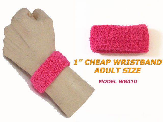 pink cheap 1inch wristbands wholesale for breast cancer awareness