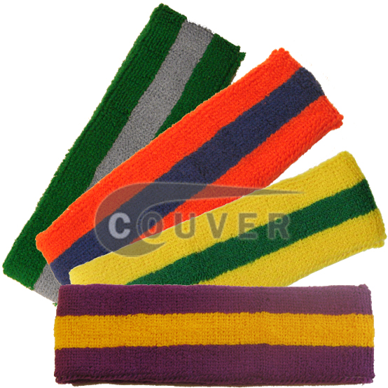 2Color Striped Head Sweatbands