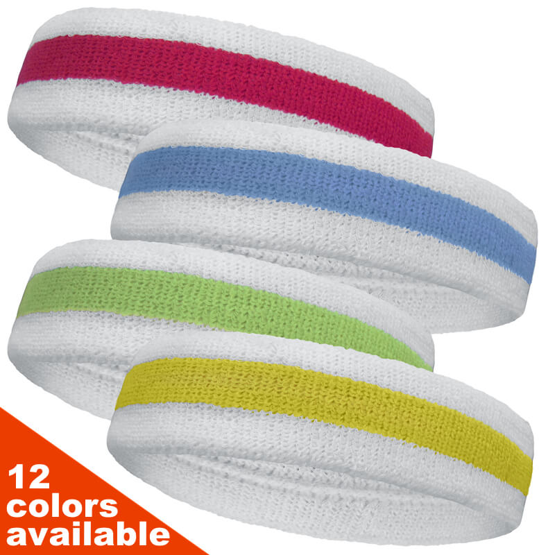 Tennis Style Head Sweatbands