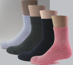 Ankle over ankle quarter socks
