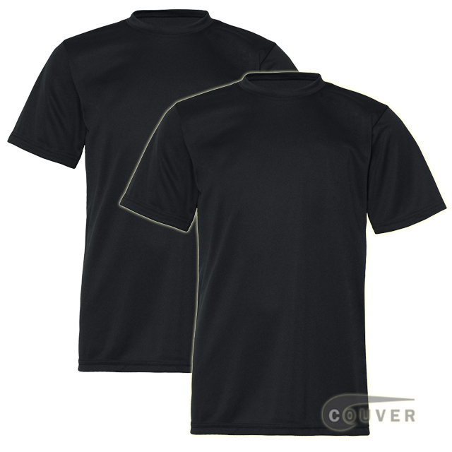 C2 Sport Youth Performance Tees Black - 2 Pieces Set