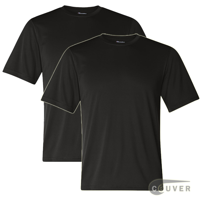 Champion Men's Double Dry Performance T-Shirt 2 Pieces Set - Black
