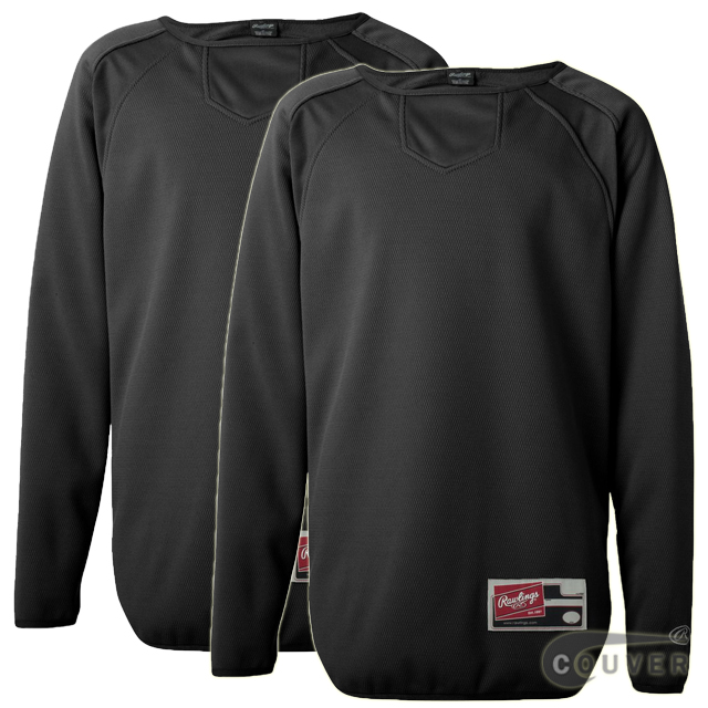 Black Youth Long Sleeve Flatback Mesh Fleece Pullover - 2 Pieces Set