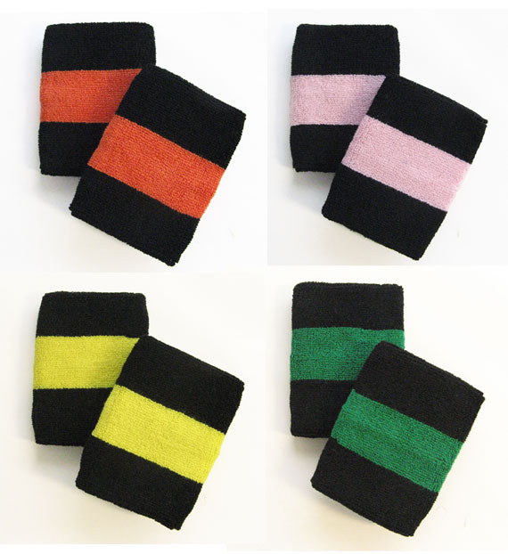 4in Black Based Wrist Sweatband Couver Sweatbands Amp Socks