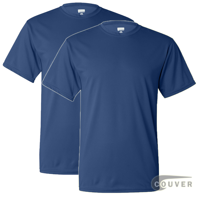 100% Poly Moisture Wicking T-Shirt - 2 Pieces Set(Blue)