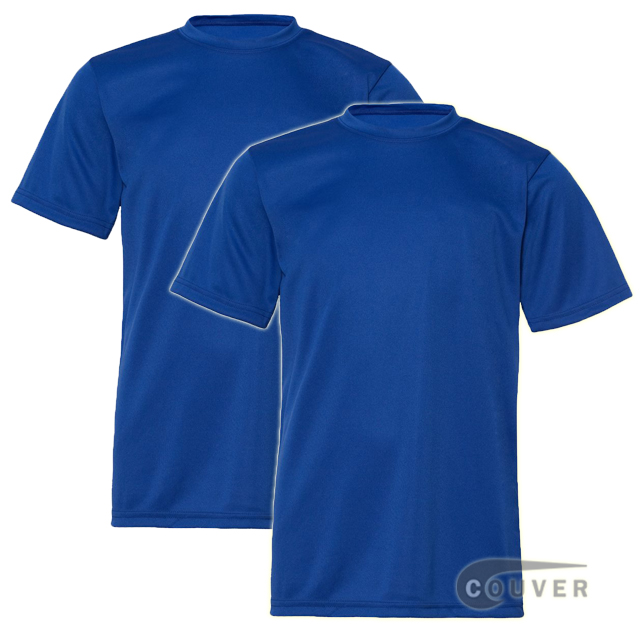 C2 Sport Youth Performance Tees Blue - 2 Pieces Set