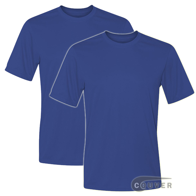 Hanes Short Sleeve Cool Dri UPF 50+ Performance Tee Blue -2Piece Set