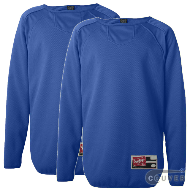 Blue Youth Long Sleeve Flatback Mesh Fleece Pullover - 2 Pieces Set