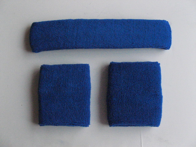 Blue Sweatbands Set