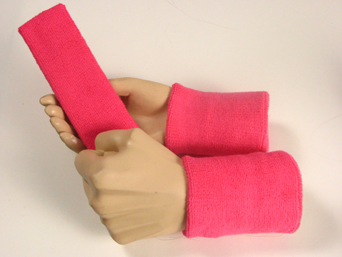 Bright Pink Sweatbands Set Wholesale
