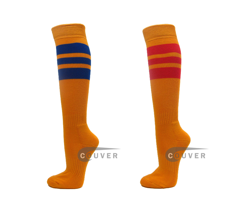 Gold Yellow Sports Knee Hi Socks