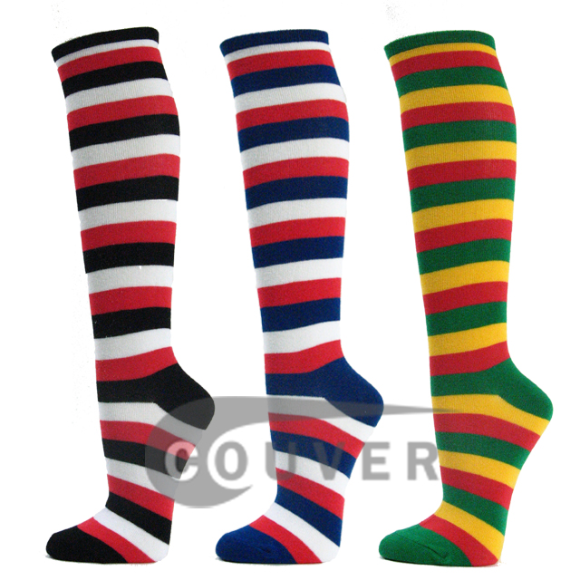 Couver 3Color Striped Knee Socks