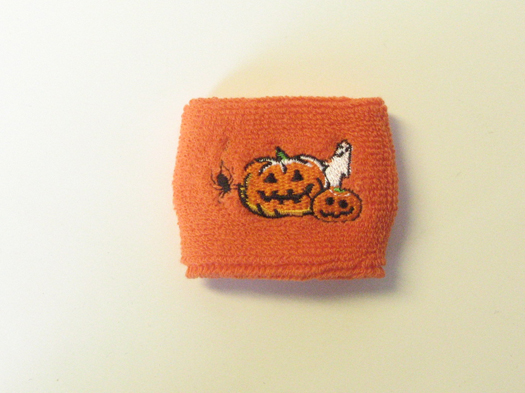 Halloween Sweat Wrist Bands Orange [1piece]