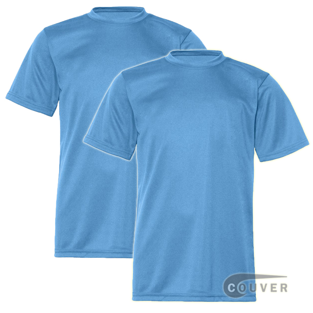 C2 Sport Youth Performance Tees Columbia Blue - 2 Pieces Set
