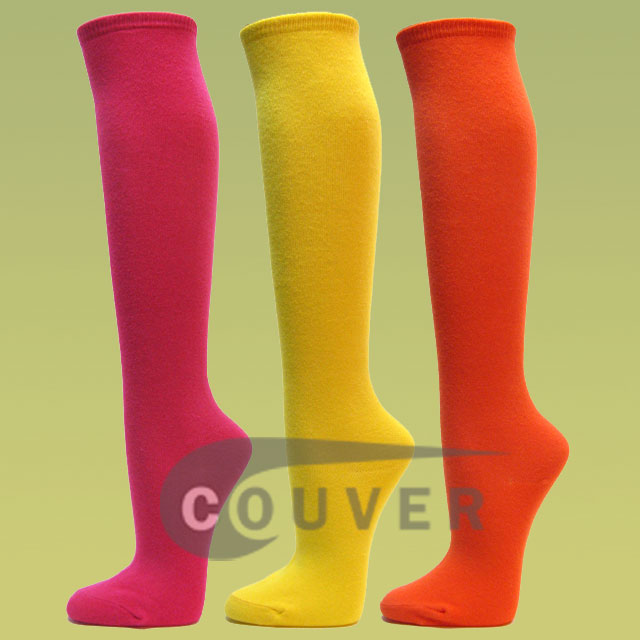 Couver Plain Fashion Knee Socks