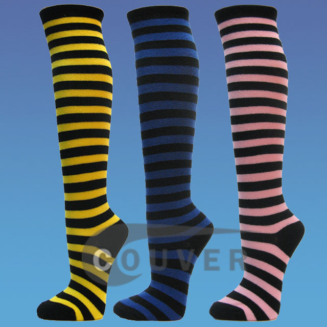 Couver Striped Fashion Knee Sock
