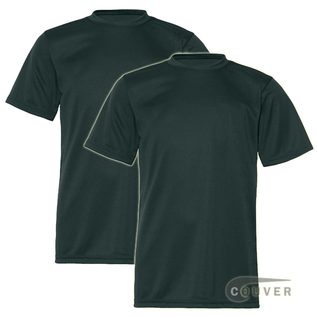 C2 Sport Youth Performance Tees Dark Green - 2 Pieces Set