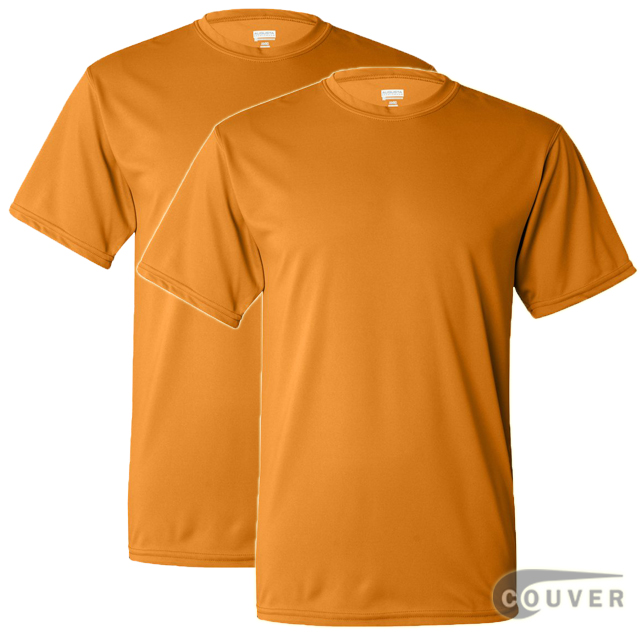 100% Poly Moisture Wicking T-Shirt - 2 Pieces Set(Gold)