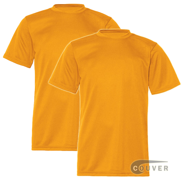 C2 Sport Youth Performance Tees Gold - 2 Pieces Set