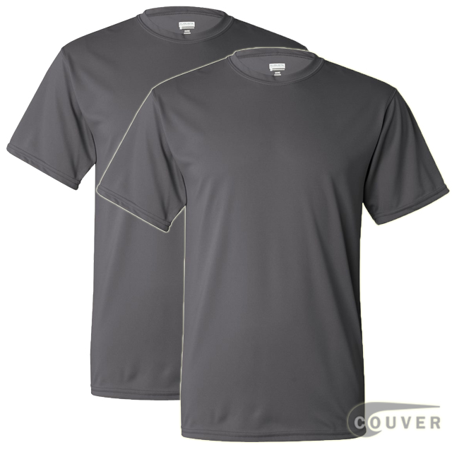 100% Poly Moisture Wicking T-Shirt - 2 Pieces Set(Graphite)