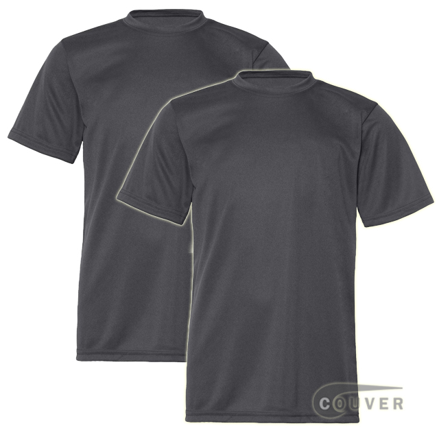 C2 Sport Youth Performance Tees Graphite - 2 Pieces Set