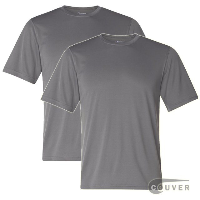 Champion Men's Double Dry Performance T-Shirt 2 Pieces Set - Gray
