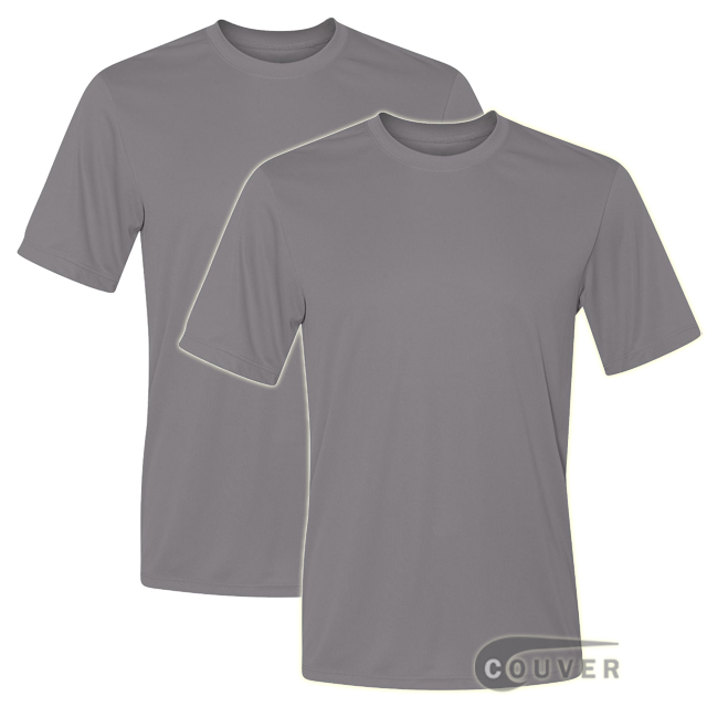 Hanes Short Sleeve Cool Dri UPF 50+ Performance Tee Gray -2Piece Set