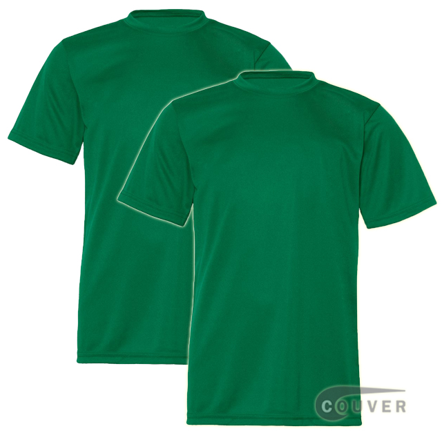 C2 Sport Youth Performance Tees Green - 2 Pieces Set