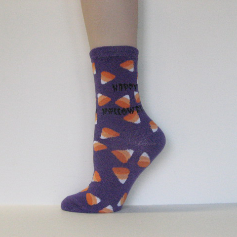 Halloween Kid Youth Purple Ankle Sock Candy [1pair]