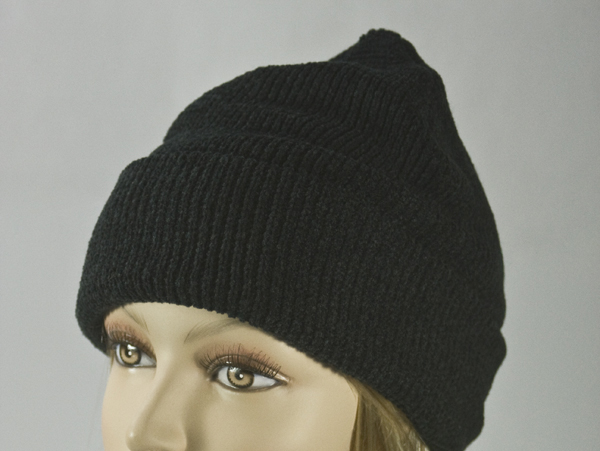 Black Thick Winter Knit Hat [1piece]