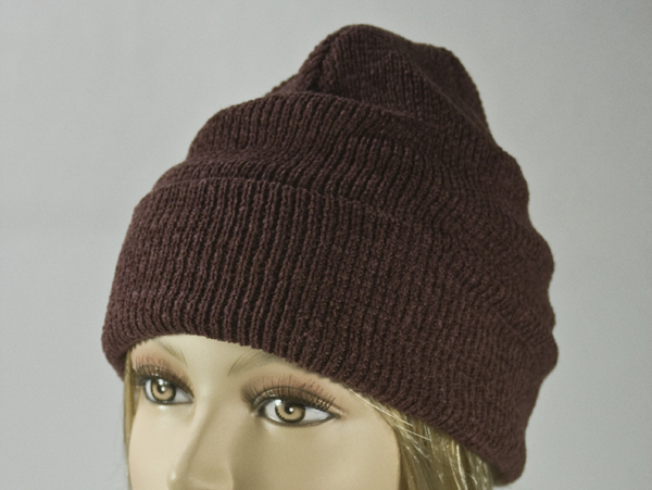 Burnt Umber (Reddish Brown) Thick Winter Knit Hat [1piece]