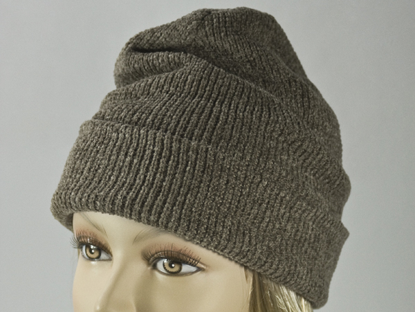 Umber Brown Thick Winter Knit Hat [1piece]
