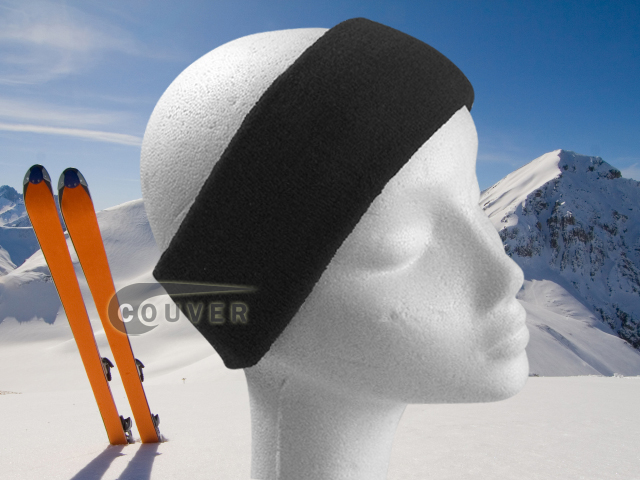 Couver Black Ski Snowboard Winter Headbands Wholesale 2PCS