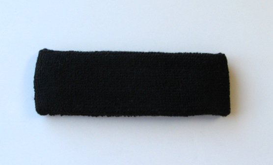 Black Athletic Head Sweatband (Sweat Headband) Wholesale 12PIECE