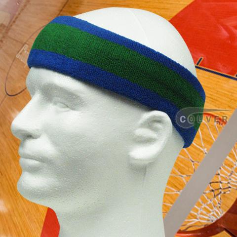 Blue with Yellow trim Large Basketball Head Sweatband