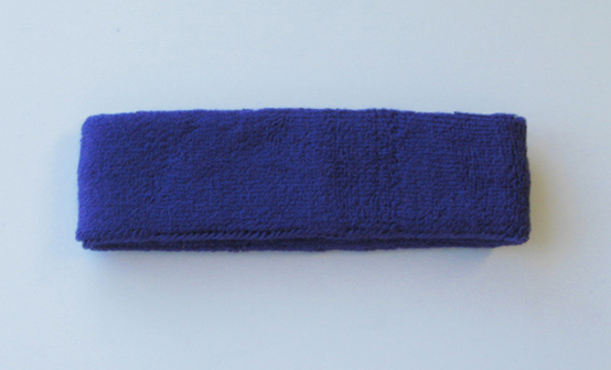 Blue Athletic Head Sweatband (Sweat Headband) Wholesale 12PIECES
