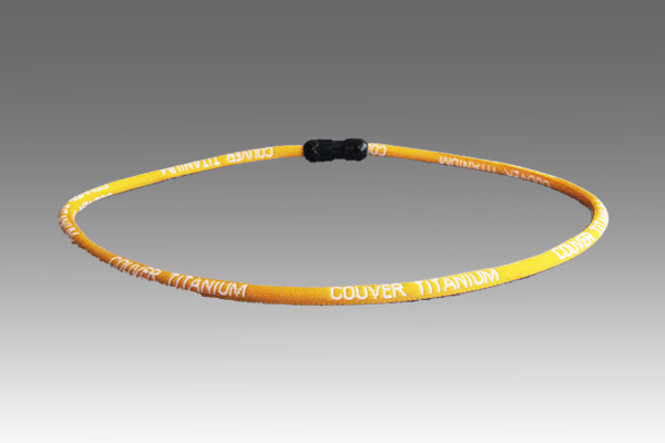 Bright Yellow Titanium Germanium Farinfrared Power Necklace