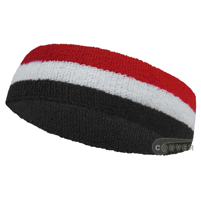 Red white black Stripe Head Sweatband Wholesale 12PIECES