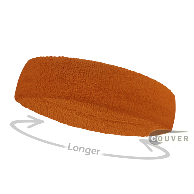 Tan long terry cloth headbands for sports [3pieces]