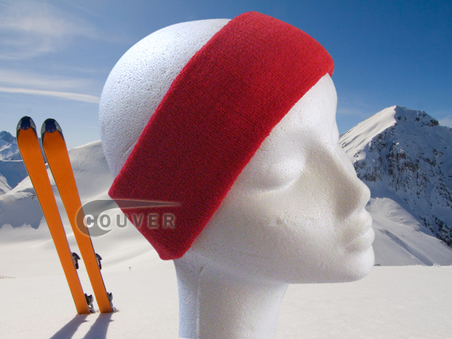 Couver Red Ski Snowboard Winter Headbands Wholesale 2PCS