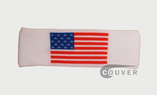 Couver USA Flag pattern Nylon Headband Wholesale 12 Pieces