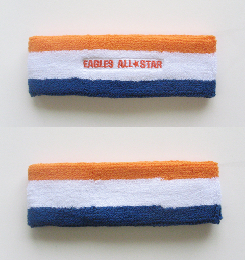 Custom Blue White Dark Orange 3Color Multi-Color Headbands