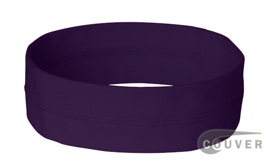 Dark Purple Ladies Nylon Headbands for women 3 pieces Set