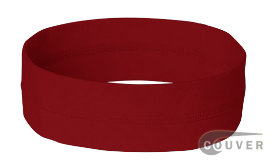Dark Red Ladies Nylon Headbands for women 3 pieces Set