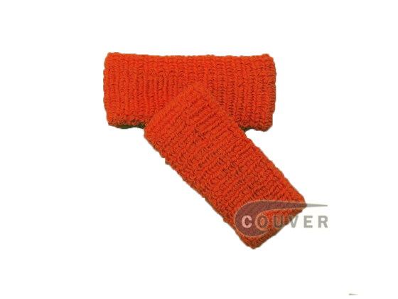 Dark Orange 1inch Cheap Wristbands Wholesale Adult Size 6PAIRS