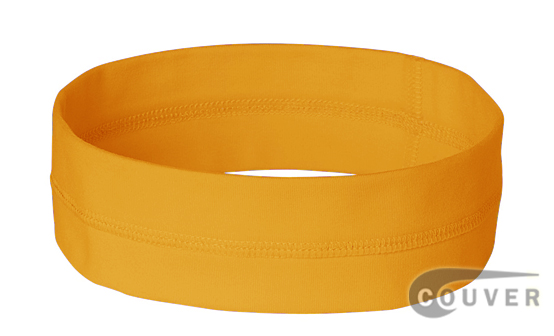 Gold Yellow Ladies Nylon Headbands for women 3 pieces Set