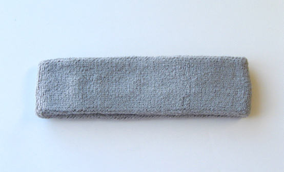 Light Grey Head Sweatbands (Sweat Headbands) Wholesale 12PIECES