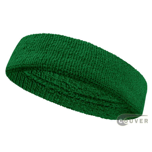 Green Athletic Head Sweatband (Sweat Headband) Wholesale 12PIECE
