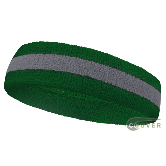 Wholesale steel-blue green 2color sports sweat headbands terry-c