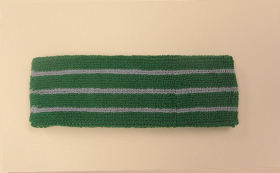 Green with steel blue lines tennis style headbands wholesale
